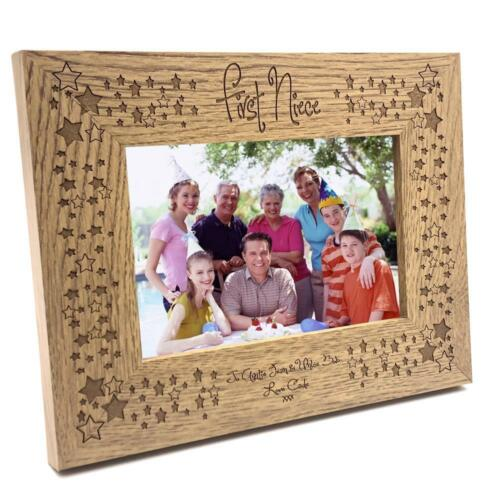 Personalised First Niece Wooden Photo Frame Gift FW255