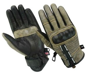 2019-Motorcycle-GLOVES-Real-Leather-Motorbike-Carbon-Knuckle-Armour-Motocross-UK