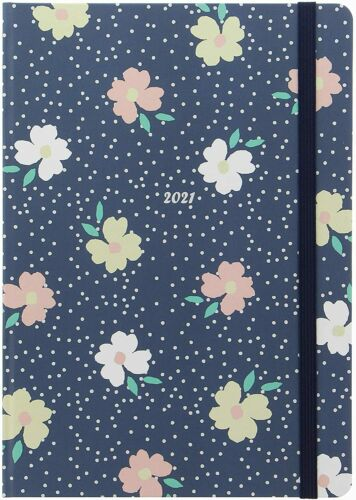 Letts 2021 Diary Floral A5 Day A Page Appointments Matt Laminated Cover Bkmark