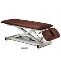 Treatment Exam Table Power Height Drop Section Space Saver Burgundy