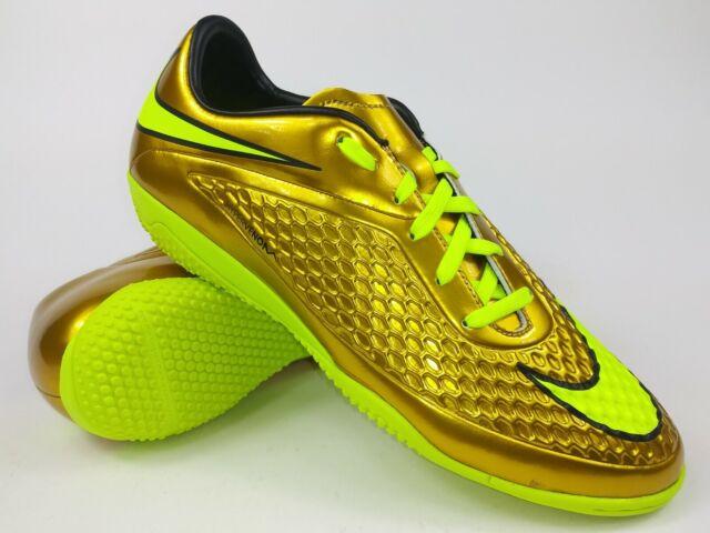 design intemporel 84856 a3717 Nike Mens Rare Hypervenom Phelon Prem IC 677587-907 Gold Soccer Indoor Shoes