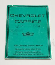 1987 chevrolet caprice owners manual user guide ebay rh ebay com 1987 Chevy Caprice Landau 1987 Chevy Cars