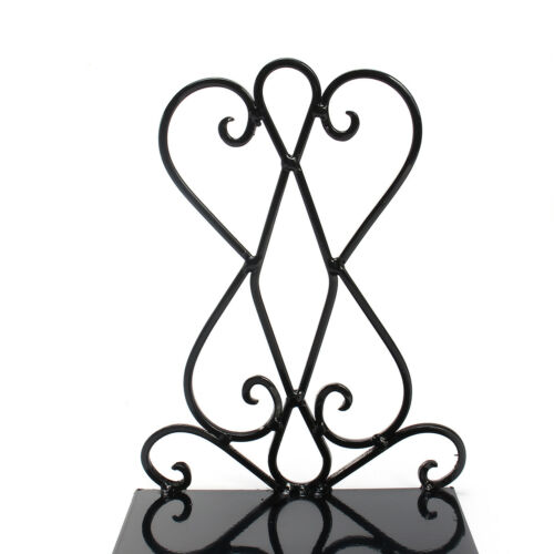 Pair Vintage Iron Book End Shelf Craft Stand Antique Bookend Home Room Decor