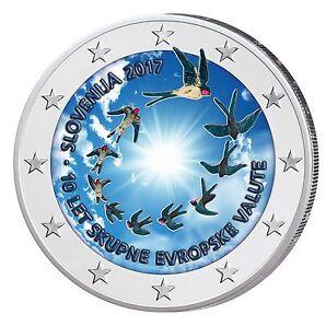 Slowenien 2 Euro 2017 10 Jahre Euro in Slowenien in Farbe