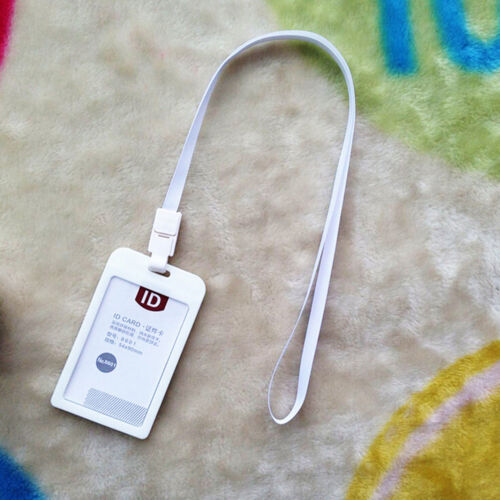 Vertical blastiques ID Nom de détenteur de carte travail insigne avec cordon Ly