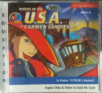 The Learning Company Where in the U.S.A CD-ROM Ages 8-12 is Carmen Sandiego