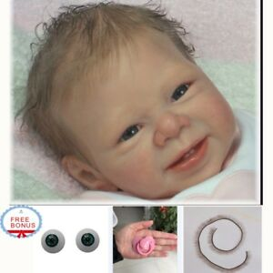 """Reborn Baby Doll Kit Soft Vinyl Head and 3//4 Limbs For Making 20-22/""""Newborn Baby"""