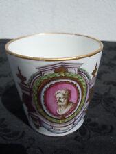 Tasse litron porcelaine Hoechst Hochst d'époque 18 ème décor représentant Homère