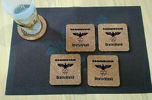 Rammstein-Deutschland-4-CORK-DRINK-COASTERS-POSAVASOS-DE-CORCHO