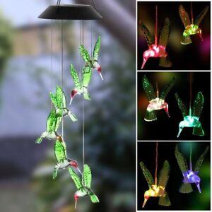 Solar-Color-Changing-LED-Hummingbird-Wind-Chimes-Home-Garden-Decor-Light-Lamp-J
