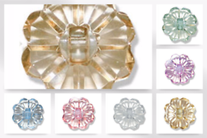 G4191-M Impex Clear Flower Buttons
