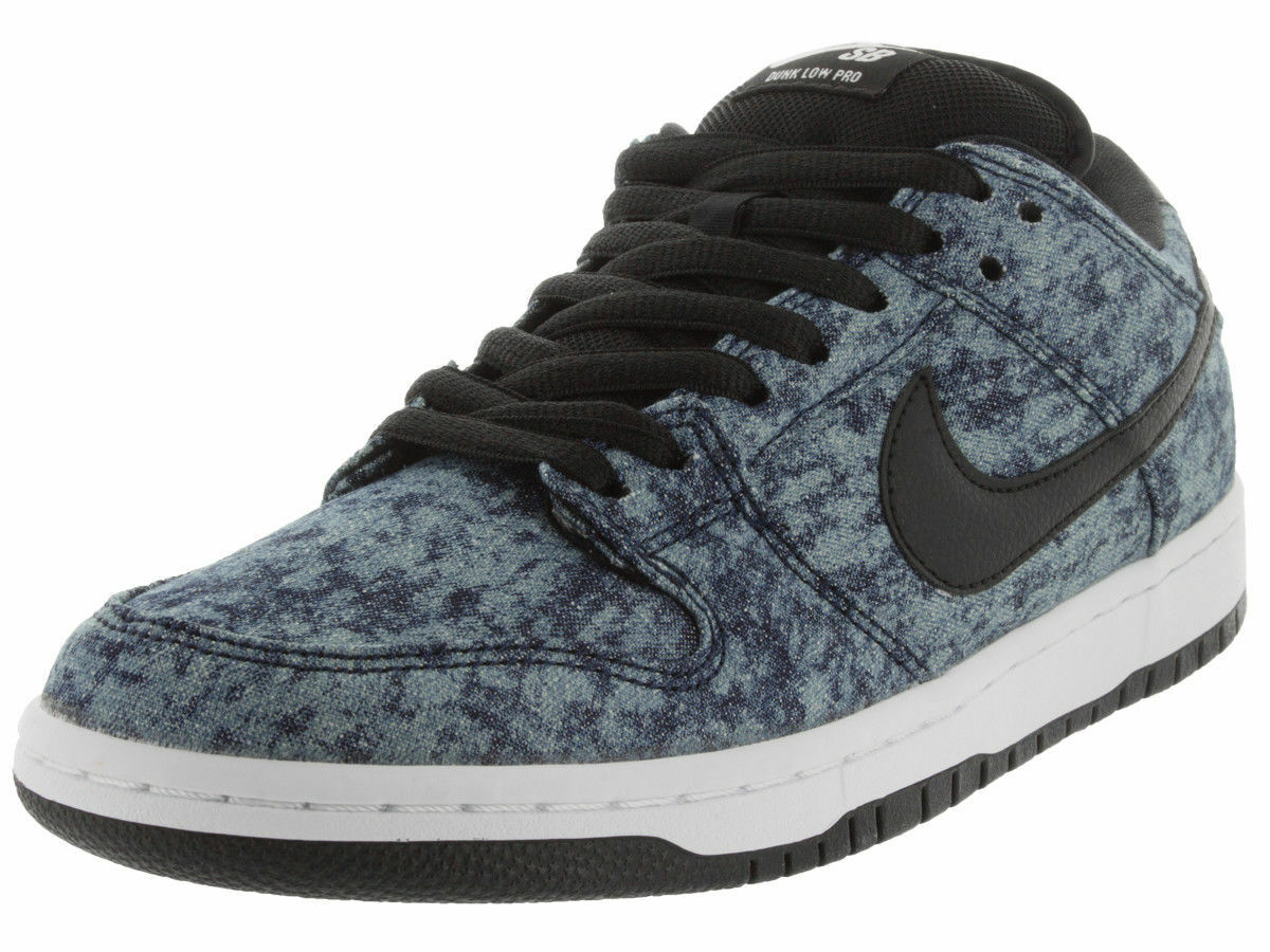 Nike DUNK LOW PREMIUM SB Midnight Navy Black White Discounted (591) Men's Shoes
