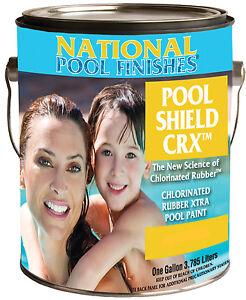 National paint swimming pool shield crx chlorinated rubber - Chlorinated rubber swimming pool paint ...