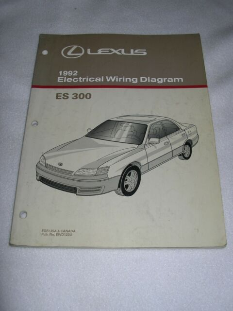 1992 Lexus Es300 Es 300 Factory Original Electrical Wiring