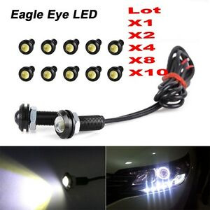 10x 9w 12v Car Led 18mm Eagle Eye Daytime Running Drl Tail Light Backup Lamp Automobiles & Motorcycles