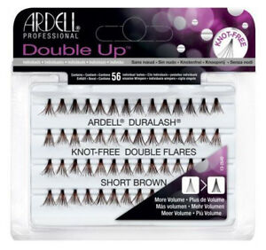 11f480d9507 Details about Ardell Double Individual Lashes Knot-Free Double Flares SHORT  Brown-12 Package