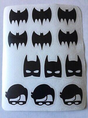12 x Batman y Robin Vinilo Calcomanía Pegatinas Taza//Vidrio//Etc
