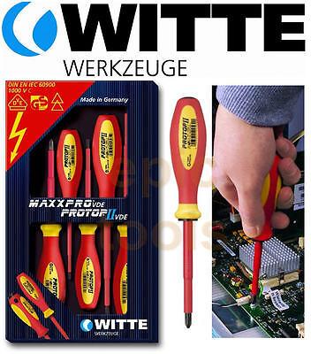 Witte Maxxpro Protop 5 VDE Isolé 1000v FentePhillips Set de Tournevis, 670024 | eBay