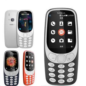 "Unlocked Original Nokia 3310 (2018) GSM 4G Mobile Phone 2.4"" Flashlight MP3 MP4"