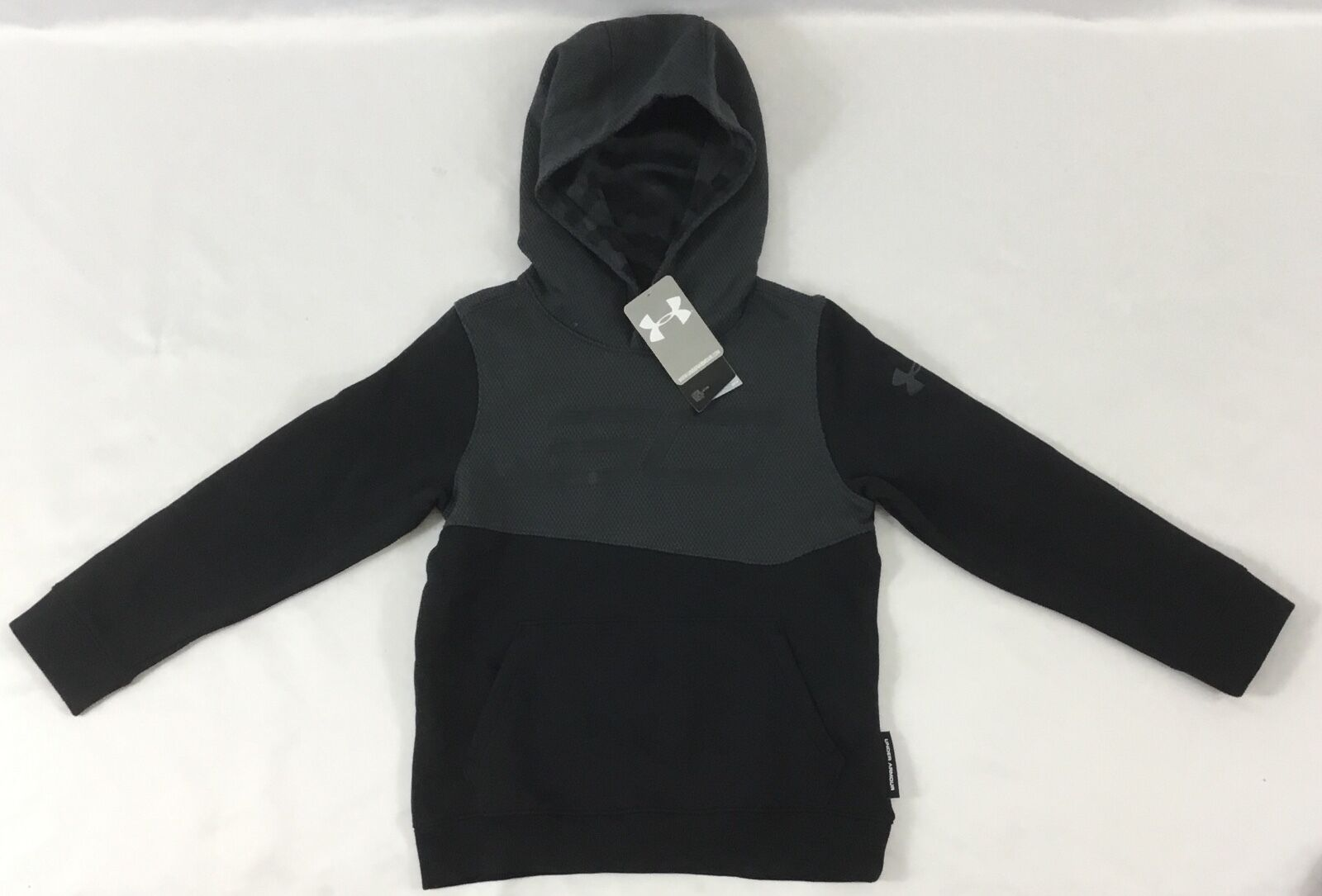 best sneakers d46fe f3d0c Under Armour Boys Sweater Hoodie SC30 Stephen Curry ColdGear Black Grey  YOUTH S