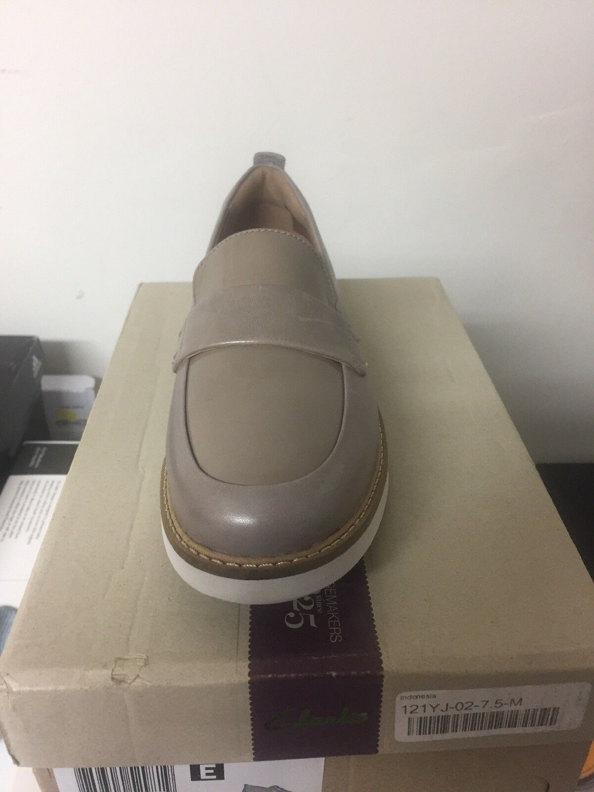 Clarks Glick Avalee, Light Grey Leather, Women Size 7.5 7.5 7.5 f01864