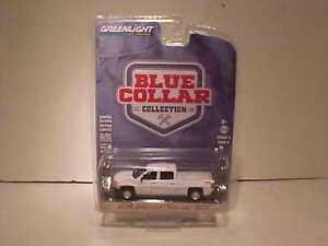 2018-Chevy-Silverado-1500-Pickup-Diecast-Truck-1-64-Greenlight-3-inch-White-B