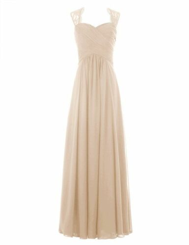 New Long Chiffon Bridesmaid Formal Ball Gown Party Cocktail Evening Prom Dresses by Ebay Seller