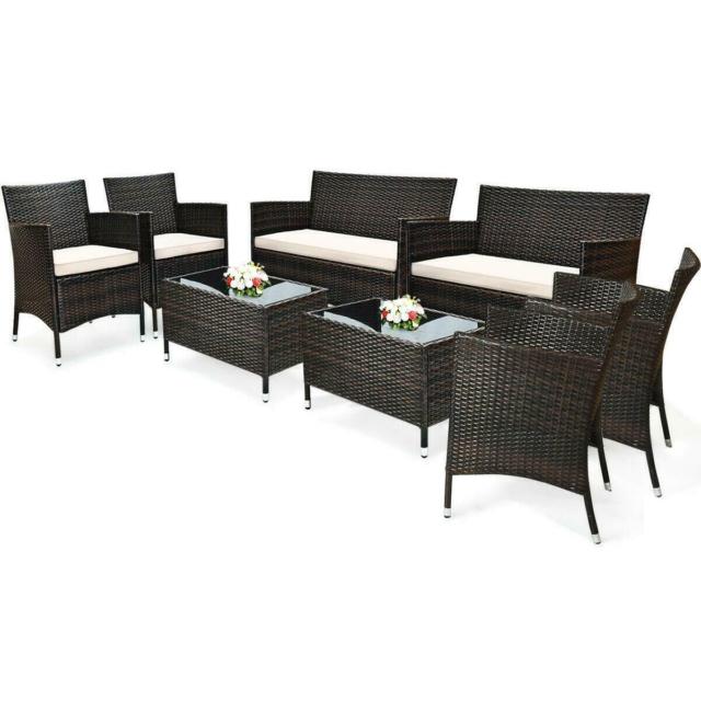 Garden Rattan Patio Furniture Set