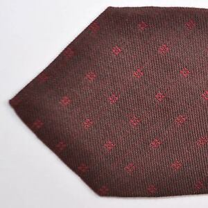 632141d7de72 100% new KITON sevenfold tie brown maroon WOOL necktie 170994 | eBay