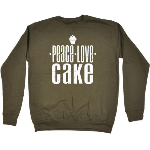 PEACE Love Felpa Torta Compleanno Pasticceria FASHION cottura Cupcake Muffin Idea Regalo
