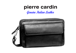 PIERRE-CARDIN-ITALIAN-LEATHER-ORGANISER-BAG-PC8865-COLOUR-BLACK