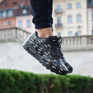 Details about Nike Air Max 90 Premium Leather Mens Sz 15 BlackBlackWhite 700155 015