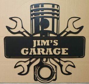 My Garage Rustic Retro Vintage Metal Tin Sign Man Cave, Shed & Bar Sign