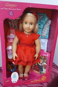 c4baf99dbb Image is loading American-Girl-Our-Generation-Christmas-Doll-Red-Dress-