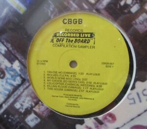 CBGB - Off The Board ~ Recorded Live ~ VINYL LP US PRESS SEALED