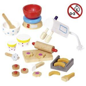 Puppenhaus-Accessoires-BACKEN-22-tlg-51851-Holzspielzeug-NEU-OVP-GOKI