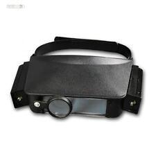 Stirnlupe, Kopfbandlupe Lupe mit Stirnband mit 2 Objektiven & Licht + 4 Stufen