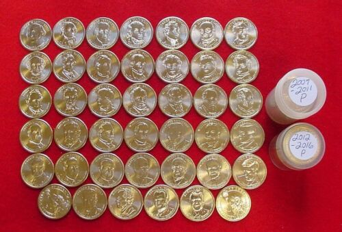 Complete Set Presidential Dollars 2007-2016 P/&D 78 Brilliant Uncirculated Coins