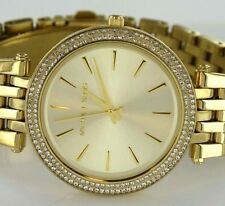 Michael Kors MK-3191 Crystals Bezel Yellow Gold-Tone Stainless Steel Ladys Watch