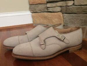 61f90b8fe63d8 Alfred Sargent For J.Crew monk strap shoes in suede Sz 9 1/2 $525 | eBay