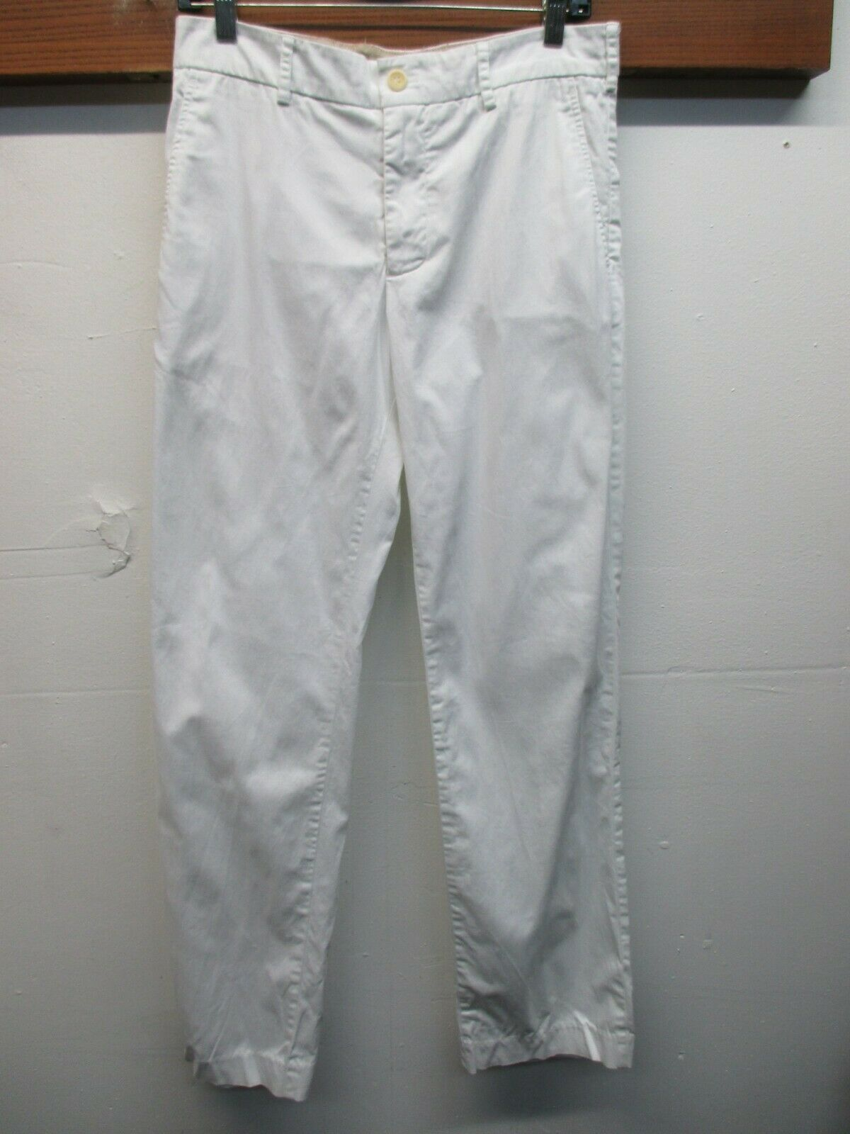 EUC Men's Bonobos Athletic Straight Cotton Blend Pants Size 31 White