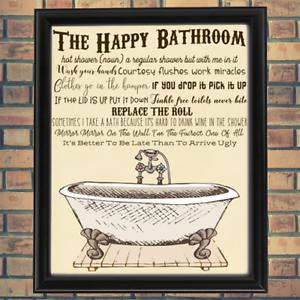 Bathroom Bath Room Prim Vintage Bathtub Tub Art French Primitive Poster Print Ebay