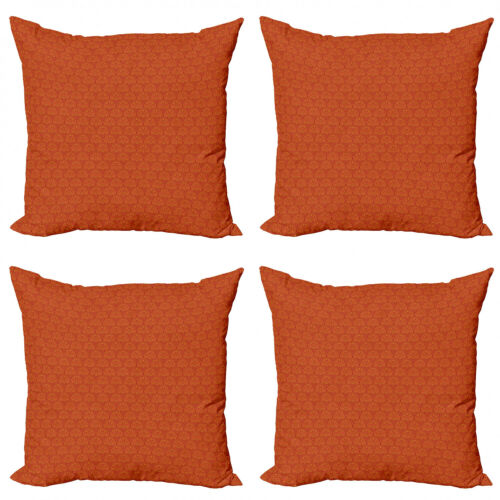 Ambesonne Ethnic Cushion Cover Set of 4 for Couch and Bed in 4 Sizes