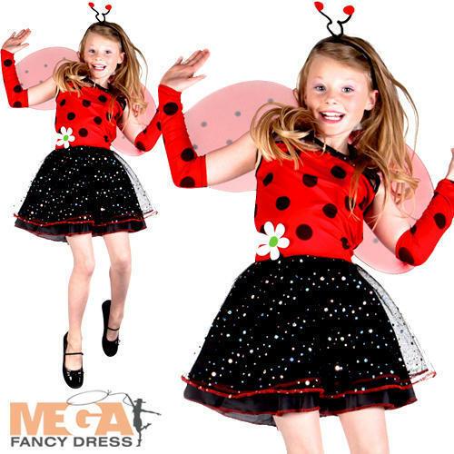 Ladybird Ragazze Costume Lady Bug Insetto Animale Libro Giorno Costume Per Bambini
