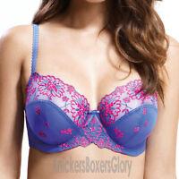 Panache Superbra Lingerie Ariza Balconnet Bra Lilac/Pink 5051 NEW Select Size