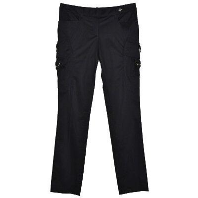 Modesto Barbara Bui Pantalon Noir Coton Stretch 40 Slim Cargo Poches Pressions 44it 30us Paghi Uno Prendi Due