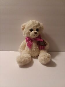 """First main You're So Sweet 10"""" white Teddy Bear with pink heart bow"""