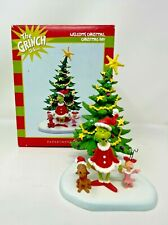 WELCOME CHRISTMAS CHRISTMAS DAY Figurine Dept 56 2011 the grinch village NEW