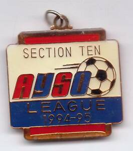 SECTION TEN-AYSO LEAGUE-1994-95 MEDAL--ONE 3/4 INCHES ...
