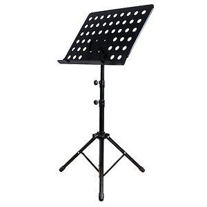 Folding-Sheet-Music-Stand-Satge-Holder-Orchestral-Sheet-Tripod-Mount-Adjustable